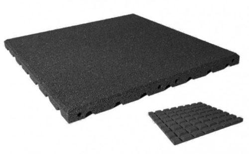 Grijze rubberen valondergrond tegel - Valondergronden - LuduQ speeltoestellen