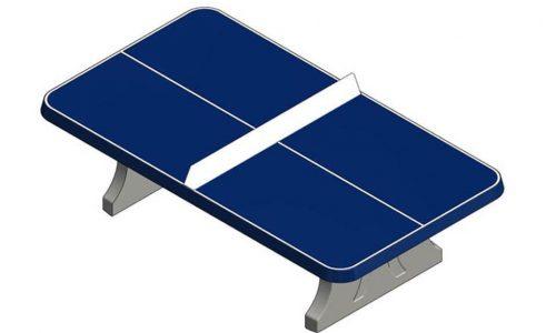 Tafeltennistafel van beton met afgeronde hoeken Blauwe tafeltennistafel van beton - Speeltafels - Sport en spel - LuduQ speeltoestellen
