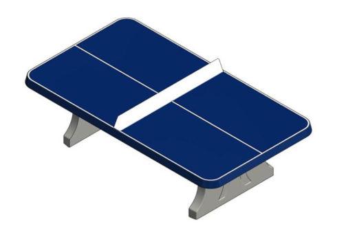 Blauwe tafeltennistafel van beton - Speeltafels - Sport en spel - LuduQ speeltoestellen