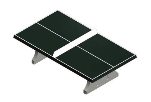 Rechthoekige betonnen tafeltennistafel - Speeltafels - Sport en spel - LuduQ speeltoestellen