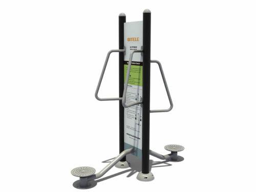 Dubbel taille twister fitness apparaat met instructiebord - Fitness - Sport en spel - LuduQ speeltoestellen