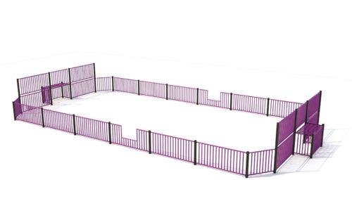 Paarse voetbalkooi met hoge wanden voor de doelen - Balsporten - Sport en spel - LuduQ speeltoestellen