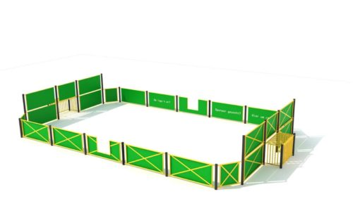 Groen met gele voetbalkooi - Balsporten - Sport en spel - LuduQ speeltoestellen