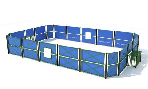 Voetbalkooi met hoge boarding 7 x 13 meter - Balsporten - Sport en spel - LuduQ speeltoestellen