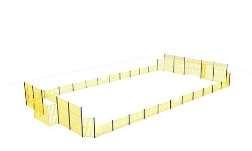 Grote gele roestvrij stalen pannakooi - Balsporten - Sport en spel - LuduQ speeltoestellen