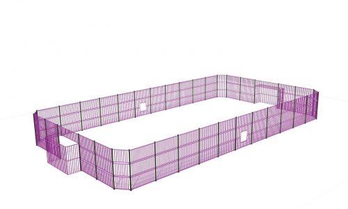 Grote paarse voetbalkooi van roestvrij staal - balsporten - sport en spel - LuduQ speeltoestellen