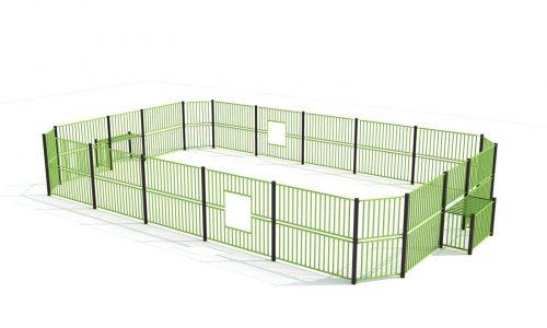 Hoge groene voetbalkooi van roestvrij staal - Balsporten - Sport en spel - LuduQ speeltoestellen