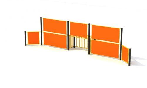 Oranje panna wand met roestvrij stalen doel - Balsporten - Sport en spel - LuduQ speeltoestellen