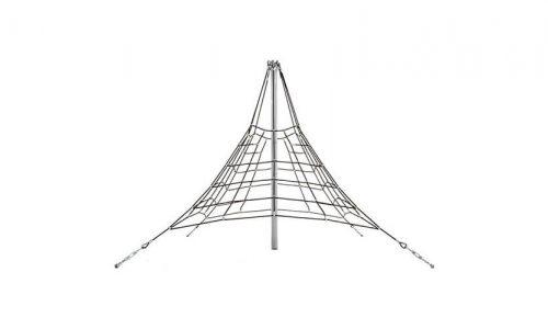 Nottingham 270 piramidenet - klimnet met gewapend 16mm touw, aluminiumconnectoren,hoogte van 270 cm - Ruimtenet - Speeltoestel - LuduQ speeltoestellen