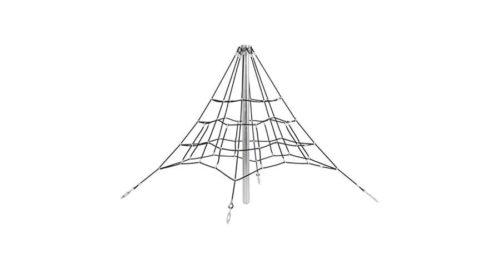 Klimnet in piramide vorm - Ruimtenetten - Speeltoestellen - LuduQ speeltoestellen