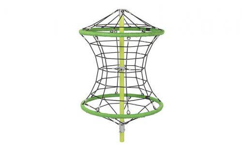 De Winnipeg 250 is een klimtoestel tot een uitdagende hoogte van 264 cm hoog. De constructie draait niet - Ruimtenet - Speeltoestel - LuduQ speeltoestellen