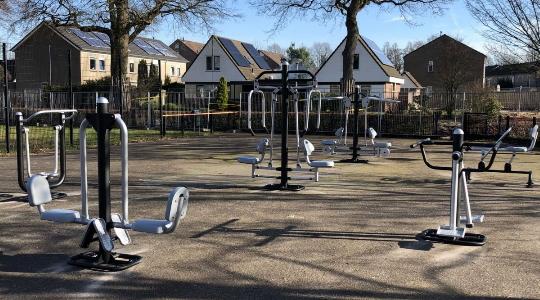 Fitnessapparaten op een plein - Fitness apparatuur - Sport en spel - LuduQ speeltoestellen