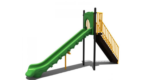 Grote groene glijbaan van kunststof - glijbanen - Speeltoestellen - LuduQ speeltoestellen