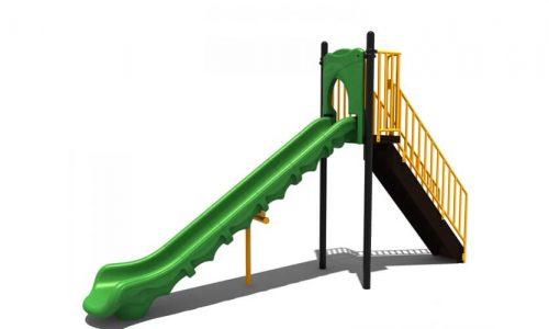 Huissen is een speeltoestel van metaal met glijbaan - glijbanen - Speeltoestellen - LuduQ speeltoestellen