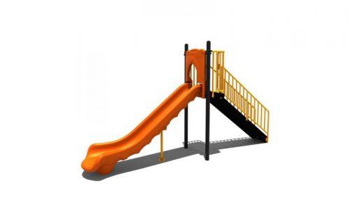 Zevenaar is een speeltoestel van metaal met glijbaan - Glijbanen - Speeltoestellen - LuduQ speeltoestellen