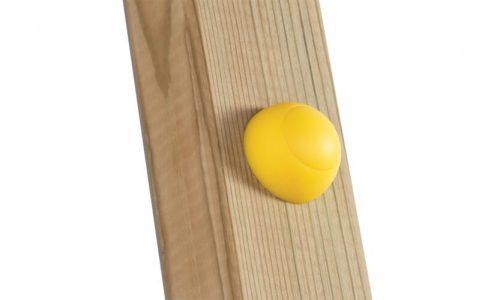 Gele afdekdop op hout - doppen en kappen - onderdelen - LuduQ speeltoestellen