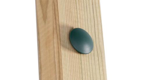 Groene verzonken afdekdop op hout - doppen en kappen - onderdelen - LuduQ speeltoestellen