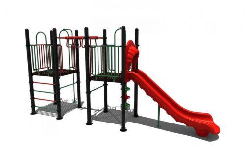 tubbergen klimtoestel met glijbaan - Klimtoestellen met glijbaan - Speeltoestellen - LuduQ speeltoestellen