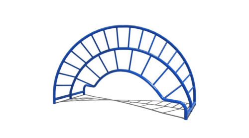 Zijkant gedraaid blauw klimtoestel - Klimtoestellen - Speeltoestellen - LuduQ speeltoestellen