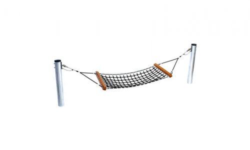 Zwarte hangmat met palen - Schommelzittingen - Onderdelen - LuduQ speeltoestellen