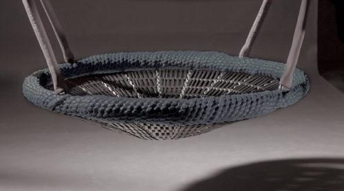 Zwarte vogelnest schommelzitting - Schommelzittingen - Onderdelen - LuduQ speeltoestellen