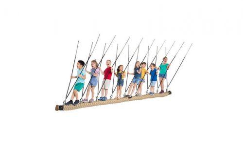 Groot schommel touw met kinderen - Schommelzittingen - Onderdelen - LuduQ speeltoestellen