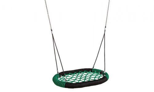 Ovalen schommel bed groen met zwart - Schommelzittingen - Onderdelen - LuduQ speeltoestellen