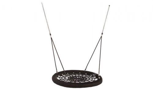 Zwarte vogelnest schommel met touwen - Schommelzittingen - Onderdelen - LuduQ speeltoestellen