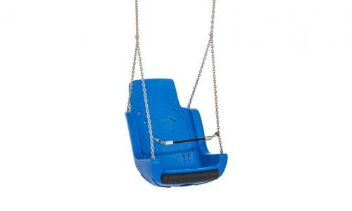 Blauwe zitting schommel met ketting - Schommelzittingen - Onderdelen - LuduQ speeltoestellen