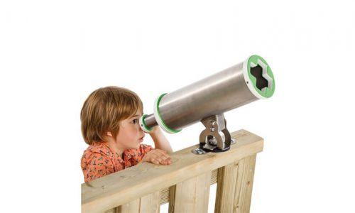 Kind kijkt door telescoop - Speel accessoires - onderdelen - LuduQ speeltoestellen